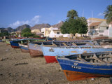 Praia Do Bote in the Town of Mindelo, on Sao Vicente Island, Cape Verde Islands, Atlantic Photographic Print by Renner Geoff