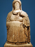 Funerary Statue from Cyrene, 4th Cbc, of Persephone, Jamahiriya Museum, Tripoli, Libya Photographic Print by Rennie Christopher