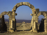 Tangier Gate, Volubilis, UNESCO World Heritage Site, Morocco, North Africa, Africa Photographic Print by Simanor Eitan