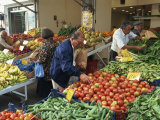 Fruit and Vegetable Market, Piraeus, Athens, Greece, Europe Photographic Print by Thouvenin Guy
