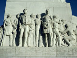 Close-Up of Sculptures of Travis and Crockett on the San Antonio Memorial, Texas, USA Photographic Print by Rawlings Walter