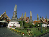 Buddhist Temple and Chedi, Wat Phra Kaeo, Bangkok, Thailand, Southeast Asia Photographic Print by Morandi Bruno