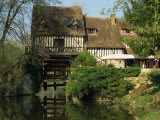 Water Mill on Quiet Stretch of the River Seine, Ande, Eure, Haute Normandie, France Photographic Print by Tomlinson Ruth