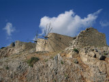 Old Windmills at the Entrance to the Plateau, Crete, Greek Islands, Greece Photographic Print by Teegan Tom