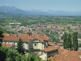 Mondovi Piazza View across to the Alps, Piedmont, Italy, Europe Photographic Print by Terry Sheila