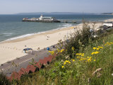 Bournemouth Pier and Beach, Poole Bay, Dorset, England, United Kingdom, Europe Reproduction photographique par Rainford Roy
