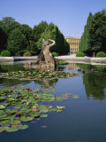 Lily Pond and Naiad Fountain in the Garden of the Schonbrunn Palace, Vienna, Austria Photographic Print by Rainford Roy