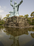 Peace Statue, Commemorating 1945 Atomic Blast, Nagasaki, Japan Photographic Print by Richardson Rolf