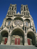 12th Century Cathedral of Notre Dame at Laon, Aisne, Picardie, France, Europe Photographic Print by Rawlings Walter