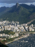 Corcovado Mountain and the Botafogo District of Rio De Janeiro from Sugarloaf Mountain, Brazil Photographic Print by Waltham Tony