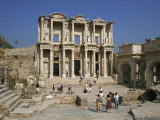 Roman Library of Celsus, at the Archaeological Site of Ephesus, Anatolia, Turkey Minor, Eurasia Photographic Print by Rennie Christopher