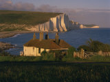Houses on Seaford Head Overlooking the Seven Sisters, East Sussex, England, United Kingdom, Europe Photographic Print by Tomlinson Ruth