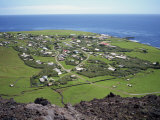 Settlement from the 1961 Volcanic Cone, Edinburgh, Tristan Da Cunha, Mid Atlantic Photographic Print by Renner Geoff