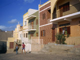 Houses, Mindelo, on Sao Vicente Island, Republic of Cape Verde Islands, Atlantic Photographic Print by Renner Geoff