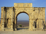 Triumphal Arch, Volubilis, UNESCO World Heritage Site, Morocco, North Africa, Africa Photographic Print by Simanor Eitan