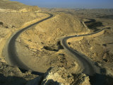Hairpin Bend in the Makhtesh Gadol Road in the Negev, Israel, Middle East Photographic Print by Simanor Eitan