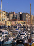Boats Moored in the Harbour, Nice, Alpes Maritimes, French Riviera, Provence, France, Europe Photographic Print by Thouvenin Guy