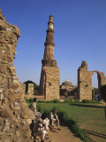Qutb Minar, UNESCO World Heritage Site, Delhi, India Photographic Print by Tovy Adina