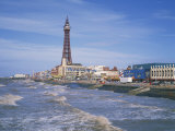 Blackpool Tower, Blackpool, Lancashire, England, United Kingdom, Europe Reproduction photographique par Rainford Roy