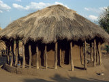 Typical House in Village, Zambia, Africa Photographic Print by Sassoon Sybil