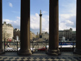 Nelson's Column, Seen from the National Gallery, Trafalgar Square, London, England, United Kingdom Photographic Print by Woolfitt Adam