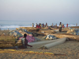 Fishing Village, Puri, Orissa State, India Photographic Print by Jane Sweeney