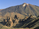 Rocks and Peak of Mount Teide from Llano De Ucanca, on Tenerife, Canary Islands, Spain, Atlantic Photographic Print by Richardson Rolf