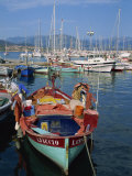 Fishing Boat Moored in the Harbour at Ajaccio, Island of Corsica, France, Mediterranean, Europe Photographic Print by Thouvenin Guy