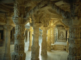 Interior, Dillawara Temple, Mount Abu, Rajasthan State, India Photographic Print by Sassoon Sybil