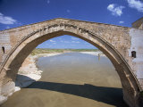 Single Arch of the Malabadi Bridge across the Batman River, Kurdistan Area of Anatolia, Turkey Photographic Print by Woolfitt Adam