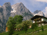 Typical Chalet, with Mountains Behind, in the Werfern Area of Austria, Europe Photographic Print by Woolfitt Adam