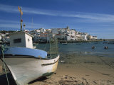 Fishing Boat on the Beach in Small Fishing Village Near Portimao, Ferragudo, Algarve, Portugal Photographic Print by Teegan Tom