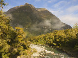 Tutoko River, South Westland, South Island, New Zealand, Pacific Photographic Print by Schlenker Jochen