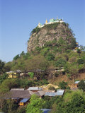 Temple of Mount Popa, Abode of Myanmar's Most Powerful Nats, Mount Popa, Myanmar Photographic Print by Wright Alison