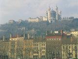 Basilica Notre Dame De Fourviere, Lyon, Rhone Alpes, France, Europe Photographic Print by Richardson Rolf