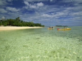 Sea Kayaking with Cutting Edge Adventures, Efale, Vanuatu, Pacific Islands, Pacific Photographic Print by Murray Louise
