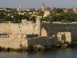 Old City Walls, Rhodes, Dodecanese, Greek Islands, Greece, Europe, Photographic Print