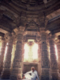 Interior of the Sun Temple, Built by King Bhimbev in 11th Century, Modhera, Gujarat State, India Photographic Print by Wilson John Henry Claude