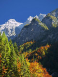 Vrsic Pass in Autumn, Triglav National Park, Julian Alps, Slovenia, Europe Photographic Print by Edwardes Guy