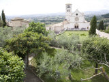 Basilica of San Francesco, and the Valley of Peace, Assisi, Umbria, Italy Photographic Print by Olivieri Oliviero