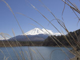 Lake Shoji, with Mount Fuji Behind, Shojiko, Central Honshu, Japan Photographic Print by Simanor Eitan