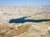 Wadi El Mujib Dam and Lake, Jordan, Middle East Photographic Print by Tondini Nico