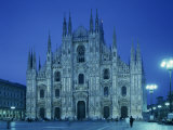 Facade of the Duomo in Milan, Lombardy, Italy, Europe Photographic Print by Scholey Peter