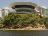 Museum of Contemporary Art, Designed by Oscar Niemeyer, Niteroi, Rio De Janeiro, Brazil Photographic Print by Richardson Rolf