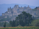 Walls and Turrets of the Old Town of Carcassonne, Languedoc Roussillon, France Photographic Print by Woolfitt Adam