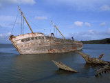 Ship Wreck in Le Fret Harbour in Brittany, France, Europe Photographic Print by Thouvenin Guy