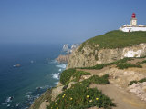 Lighthouse and Coast at Cabo Da Roca, the Most Westerly Point of Continental Europe, Portugal Photographic Print by Pate Jenny