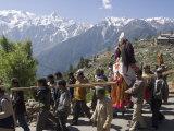 Religious Procession with the Local Deity, Kalpa Village, Kinnaur, Himachal Pradesh, India Photographic Print by Simanor Eitan