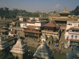 View over the Pashupatinath Temple in the City, Kathmandu, Nepal Photographic Print by Wilson Ken
