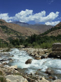 River and Mountains in the Kalash Region Near Bumburet Village in Chitral, Pakistan Photographic Print by Traverso Doug